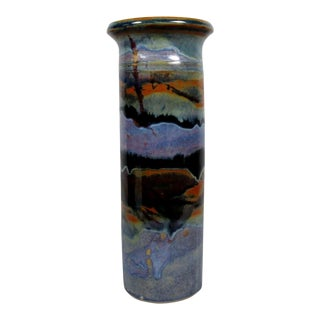 Waterfall Glaze Vase by Carol Commins For Sale