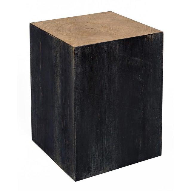 Estimated Retail Price: $897.00. Reclaimed Wood Veneer Sides,Black - Reclaimed Oak Veneer Top