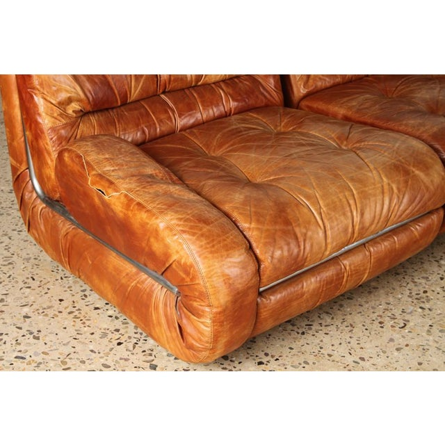 1970s Five Piece Sectional Sofa For Sale - Image 5 of 6