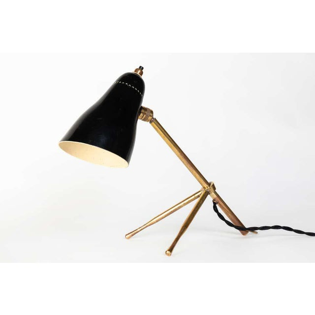 "1950s Giuseppe Ostuni ""Ochetta"" Wall or Table Lamp for O-Luce For Sale - Image 9 of 13"