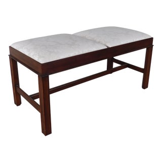 Henkel Harris Chippendale Style Cherry Bench Model #182 For Sale