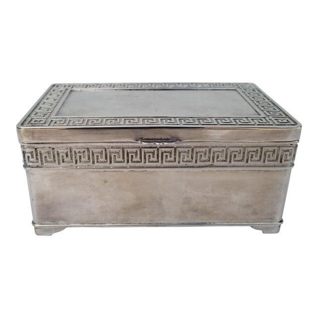 1980s Vintage Italian Vera Lucino Decorative Silver Plate Box For Sale