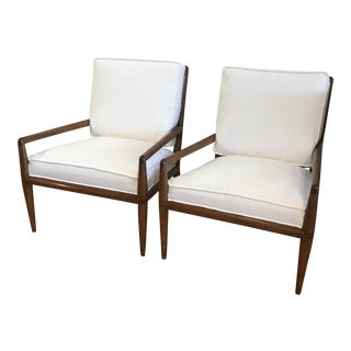 1960s Vintage Danish Modern Teak Lounge Chairs- A Pair For Sale