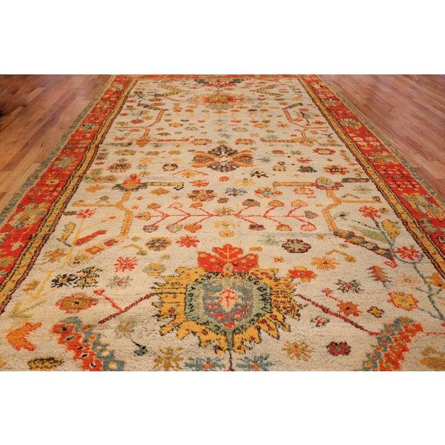 Antique Turkish Arts & Crafts Oushak Rug - 8′4″ × 17′3″ For Sale - Image 10 of 11