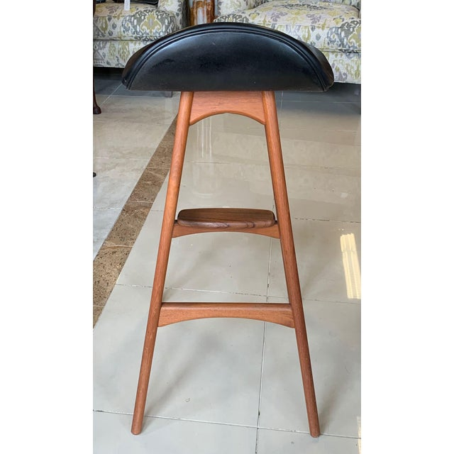 Mid-Century Modern Eric Buch Danish Modern Stools - A Pair For Sale - Image 3 of 13