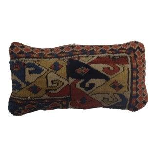 "Leon Banilivi Antique Persian Wool Pillow, 1'4"" X 8"""
