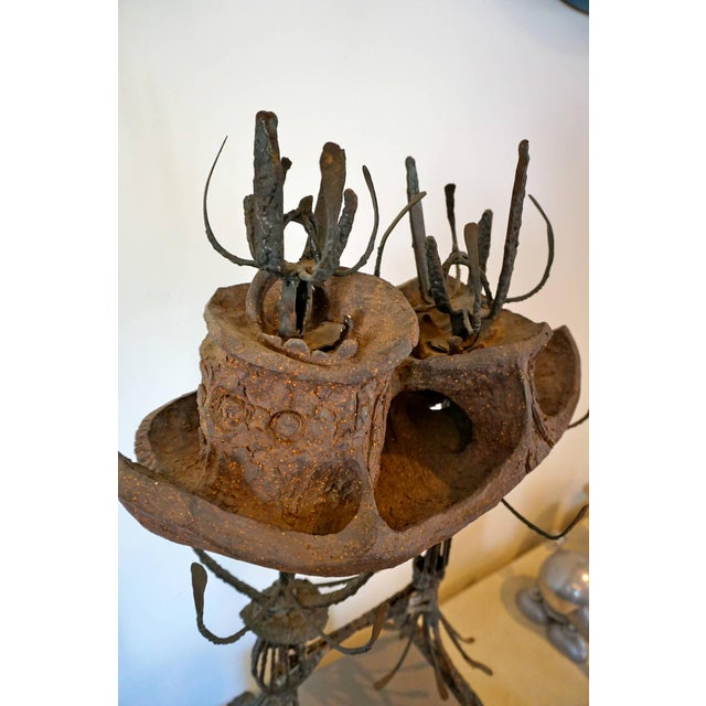 Clay Clay and Metal Sculpture by Leon Roloff For Sale - Image 7 of 10