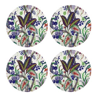 "Amazonia Classic, 16"" Round Pebble Placemats, Set of 4 For Sale"