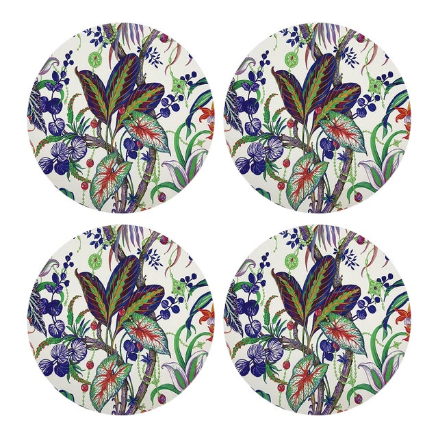 """Amazonia Classic, 16"""" Round Pebble Placemats, Set of 4 For Sale"""