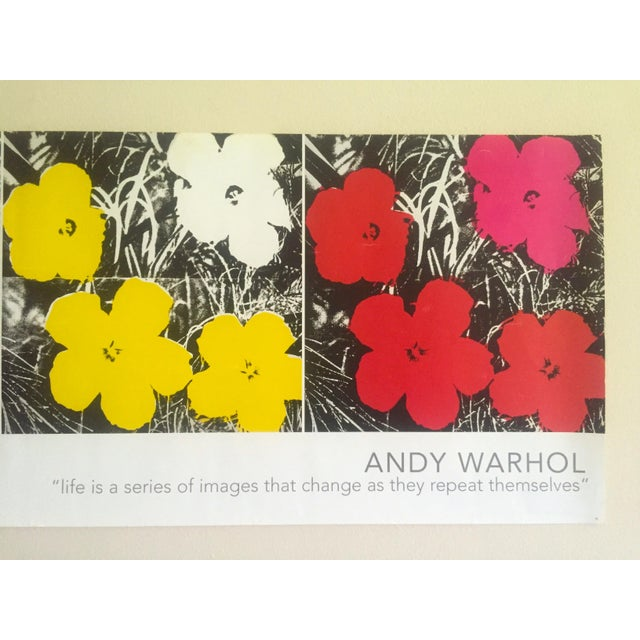 """Andy Warhol Andy Warhol Foundation Vintage Pop Art Poster Print """" Flowers """" 1964 / 1967 For Sale - Image 4 of 13"""