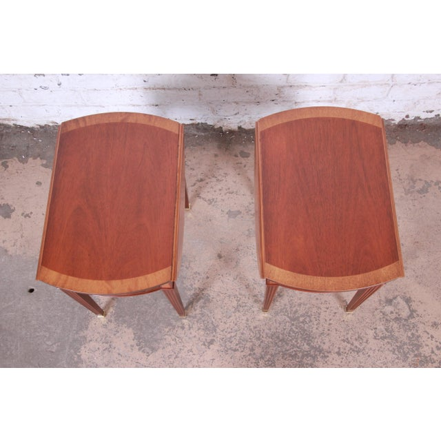 Baker Furniture Georgian Style Banded Mahogany Pembroke Side Tables - a Pair For Sale In South Bend - Image 6 of 13