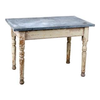 1890s Vintage Continental Zinc-Top Potting Table For Sale