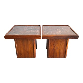 Mid-Century John Keal for Brown Saltman Side Tables - a Pair For Sale