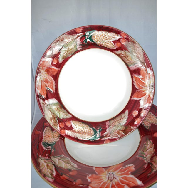 Floral Punch Bowl & Platter Made in Italy - a Pair For Sale In New York - Image 6 of 12
