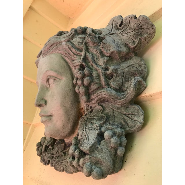 Contemporary Antique Goddess of Wine Stone Plaque For Sale - Image 3 of 5