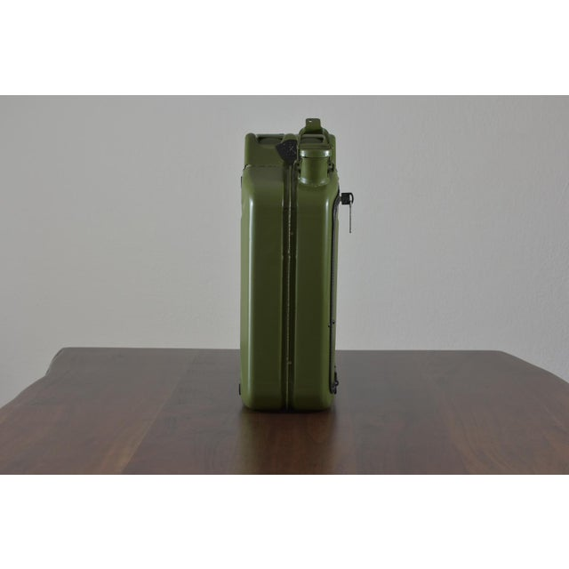Art Deco Danish Fuel Army Green Bar Cabinet For Sale - Image 3 of 10