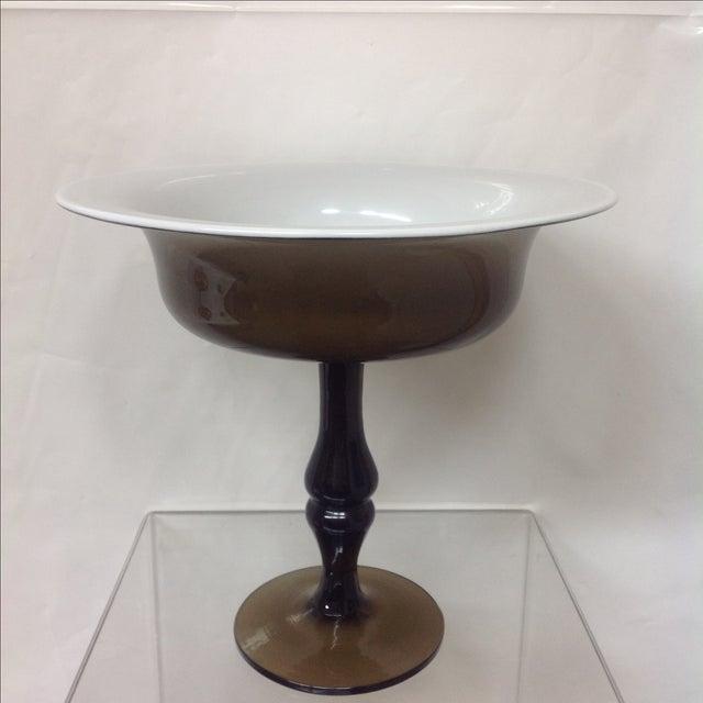 Holmgaard Olive Glass Tazza - Image 5 of 5