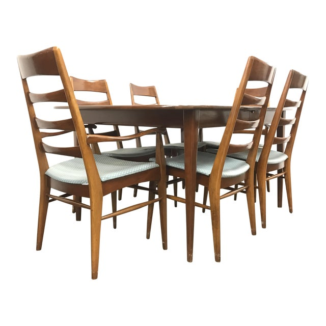 Mid-Century Heywood Wakefield Dining Set - Image 1 of 10