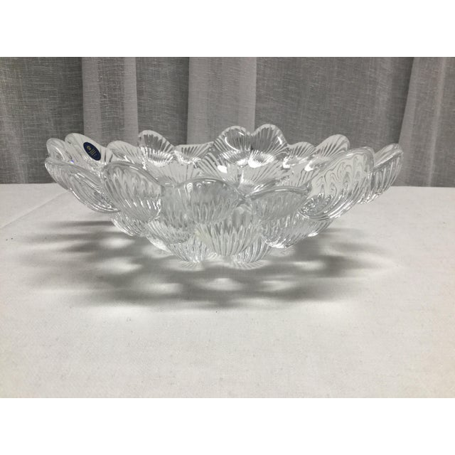 Royal Copenhagen 1950s Danish Crystal Clam Shell Bowl by Royal Copenhagen For Sale - Image 4 of 6