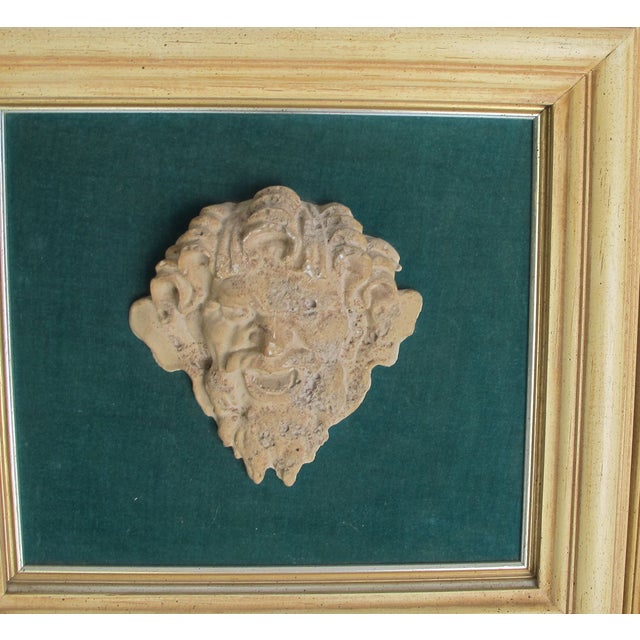 Frammed Vintage Roman Clay Heads - Image 4 of 5