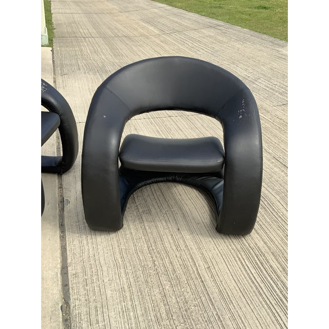 Mid-Century Modern 1990s Vintage Sculptural Sinuous Cantilever Chairs - A Pair For Sale - Image 3 of 10