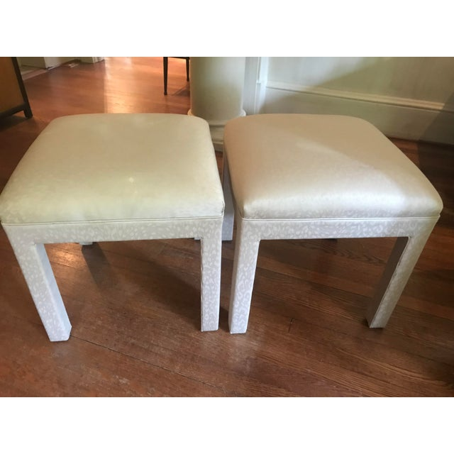 1970s Vintage Parsons Stools or Benches- a Pair For Sale In Atlanta - Image 6 of 6