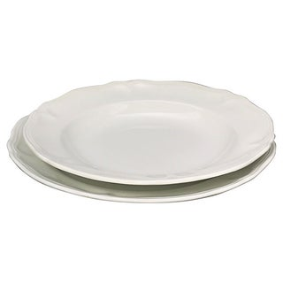 French White Porcelain Dinner & Salad Plates - 12 Pieces Preview