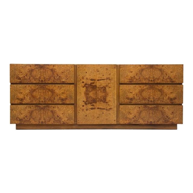 Olive Burl Wood Credenza or Dresser by Milo Baughman for Lane - Image 1 of 8