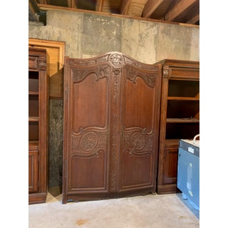 Asian Auburn-Brown Wood Antique Armoire Preview
